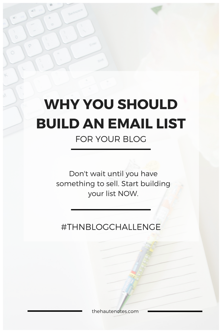 email list, building an email list, why you should have an email list