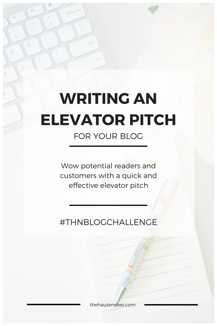 writing an elevator pitch Learn how to pitch a movie from former mgm film executive stephanie should i complete the script and then start writing my pitch  the elevator pitch:.