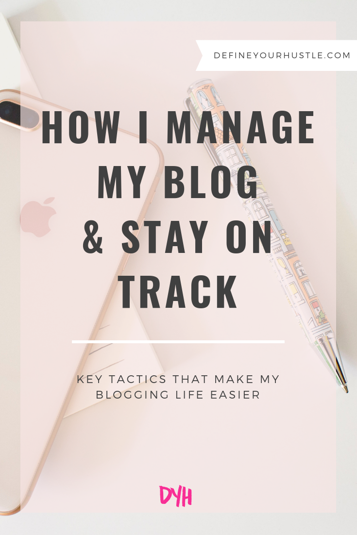 manage my blog
