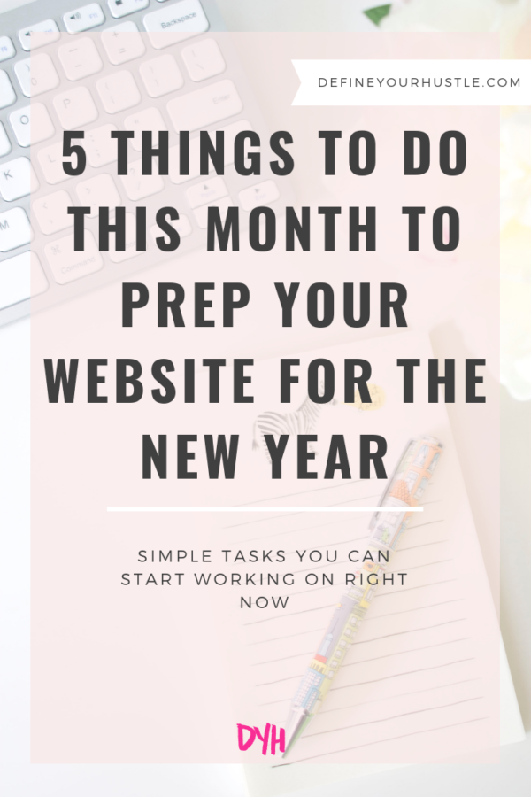 prep your website for the new year
