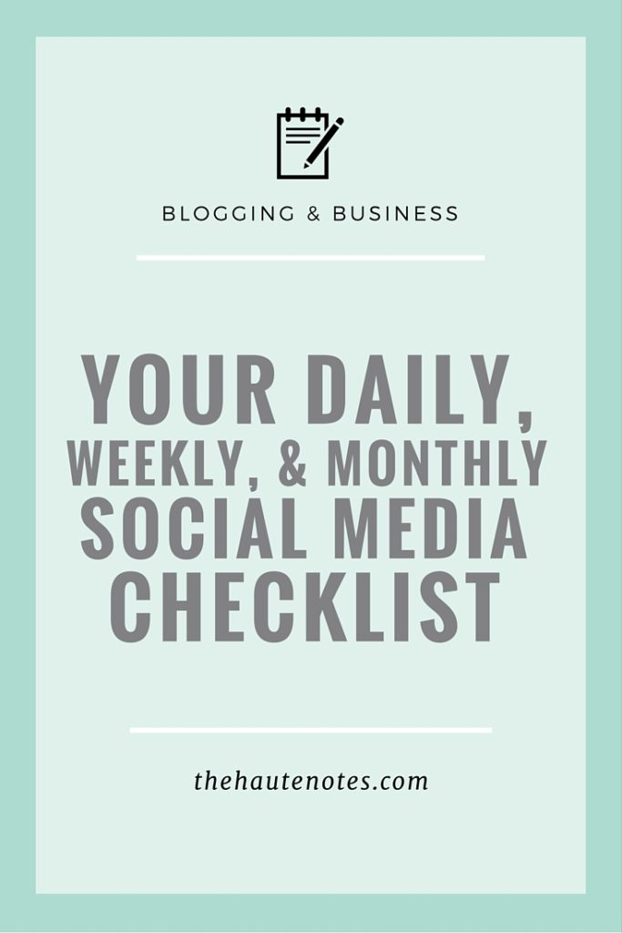 Your Daily, Weekly, & Monthly Social Media Checklist | Define Your