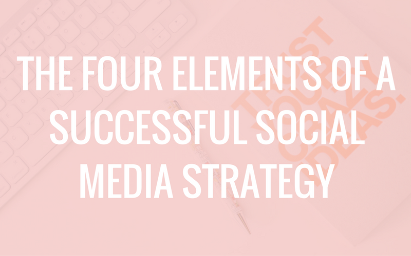 The Four Elements of a Successful Social Media Strategy
